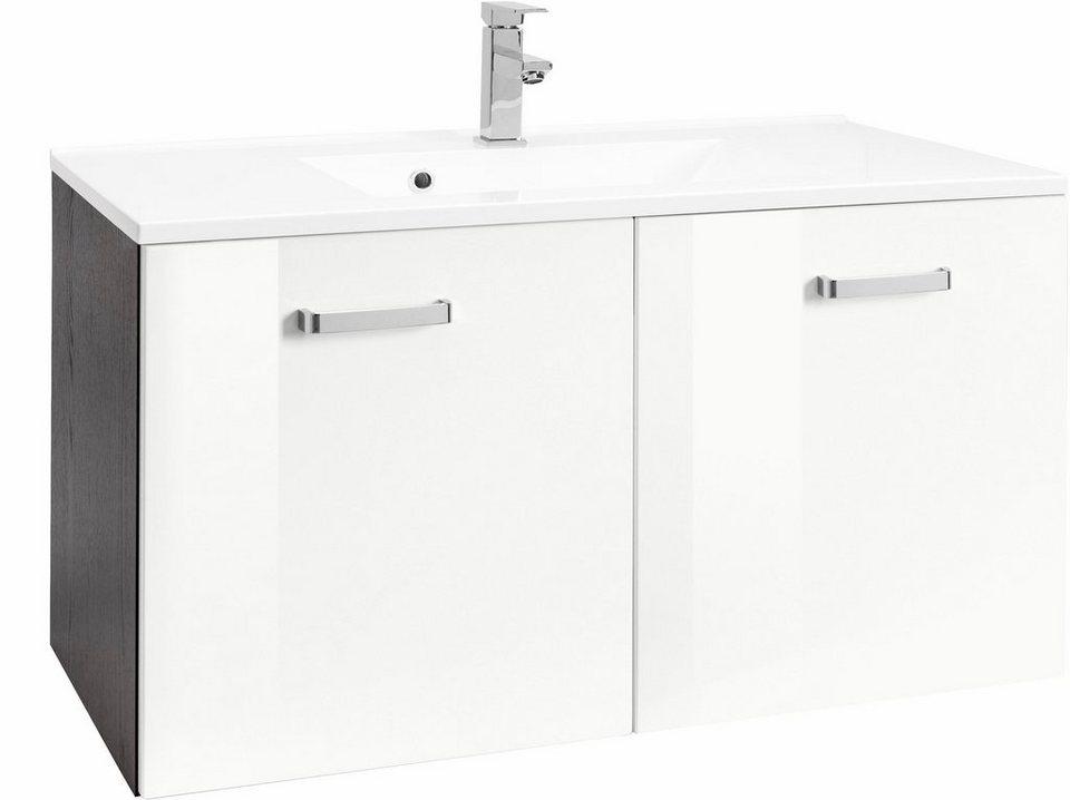 Held Möbel Waschtisch »Ravenna«, Breite 90 cm in grafit/weiß