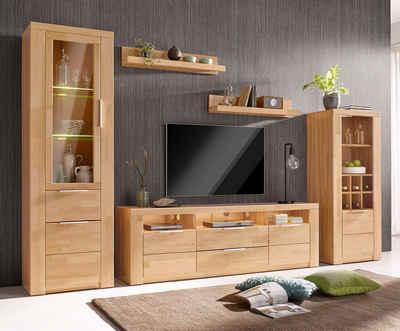 massivholz wohnwand kaufen » holz & holzoptik | otto, Design ideen