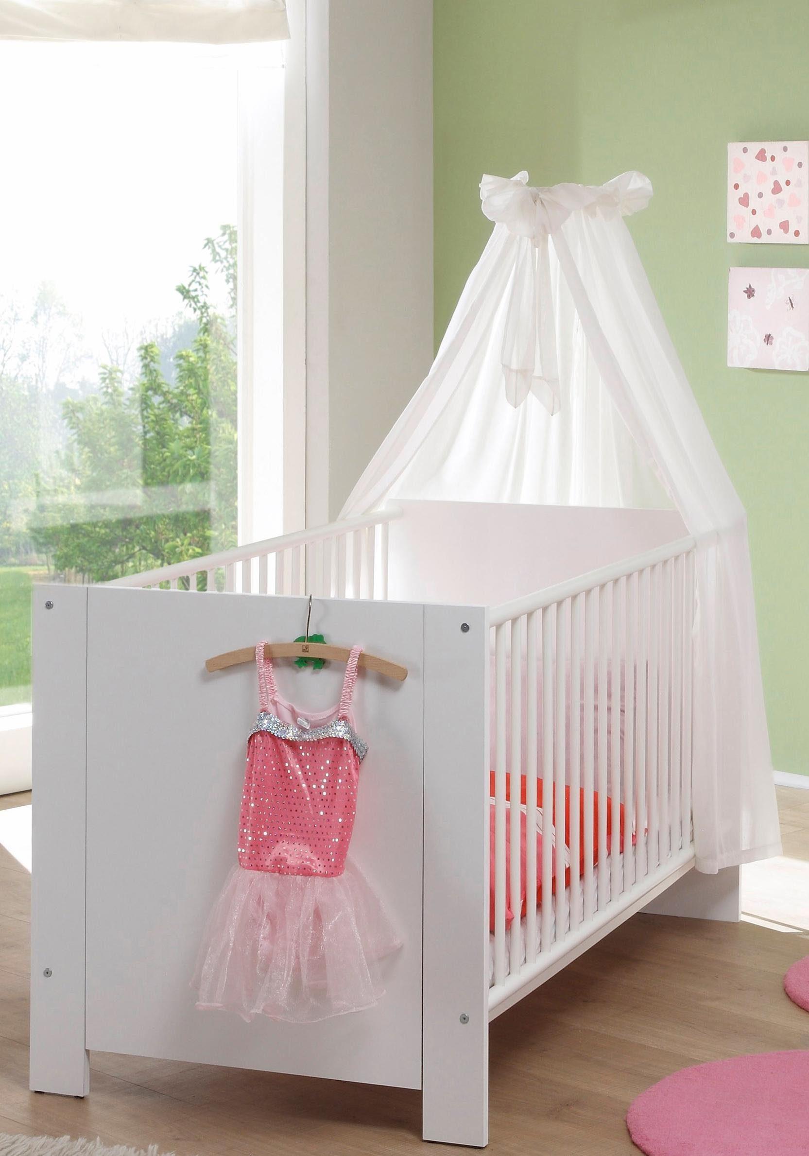 Babybett aus der Babymöbel Serie »Trend« in weiß