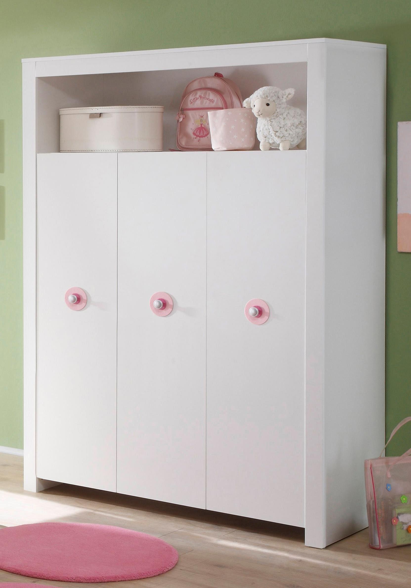 Kleiderschrank zur Babymöbel Serie »Trend« in weiß