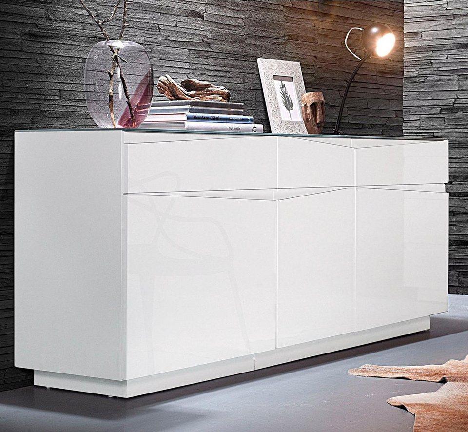 Homexperts Sideboard »Sharpcut«, Breite 160 cm | OTTO