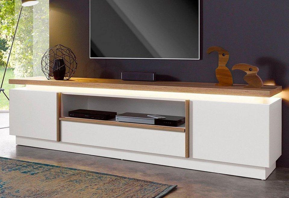 Lowboard, Breite 187 cm in weiß/San Remo