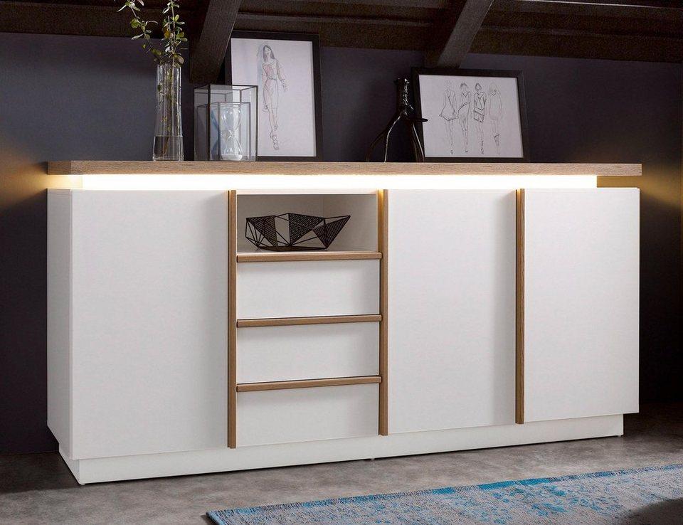 Sideboard, Breite 187 cm in weiß/San Remo