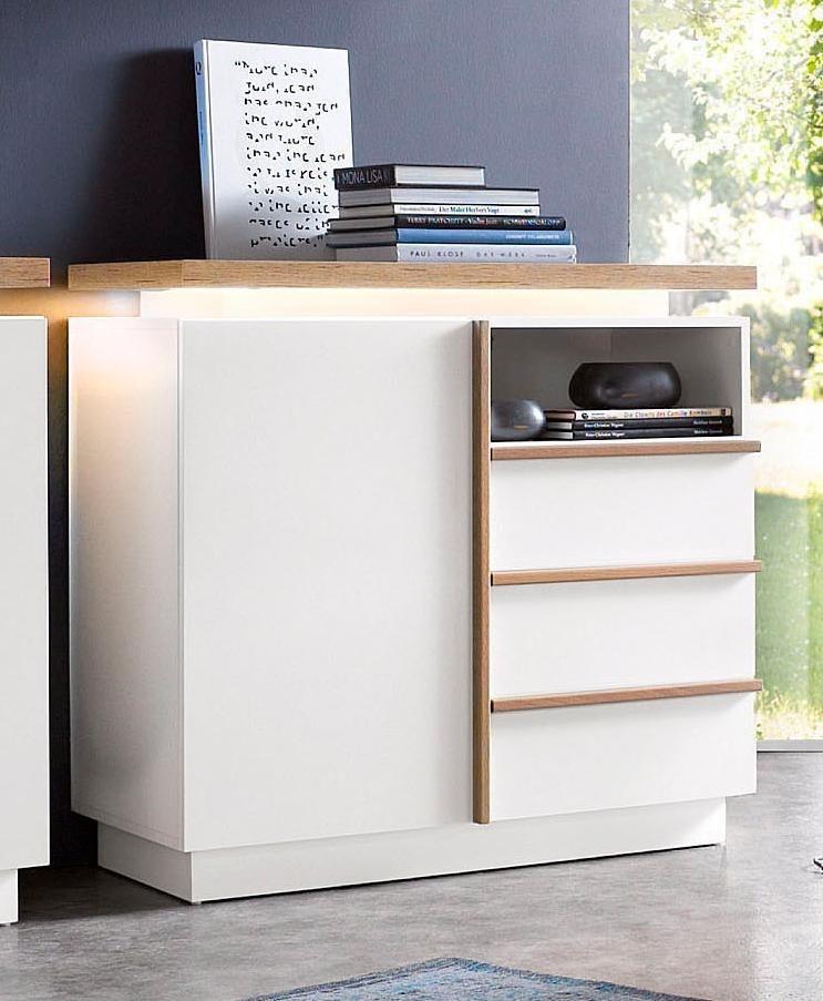 Sideboard, Breite 94 cm in weiß/San Remo
