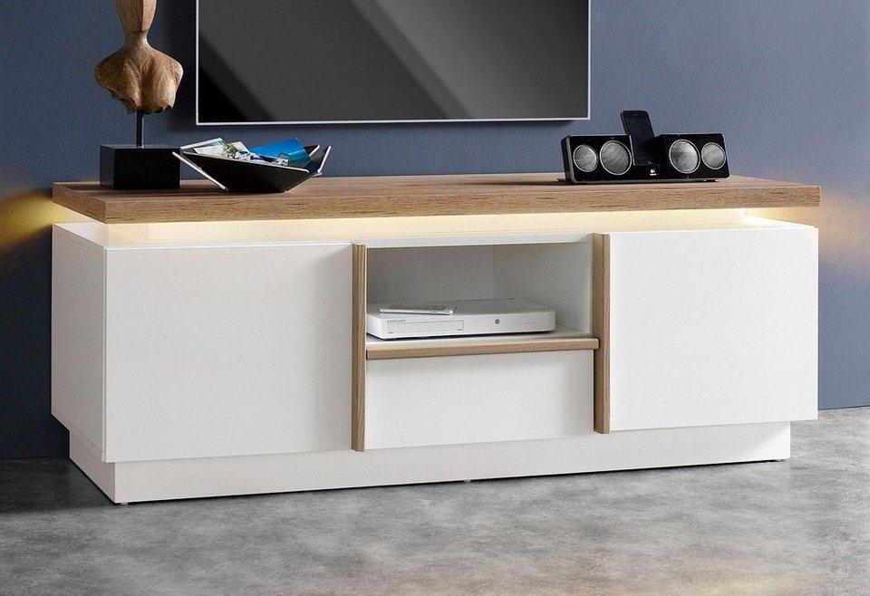 Lowboard, Breite 140 cm in weiß/San Remo