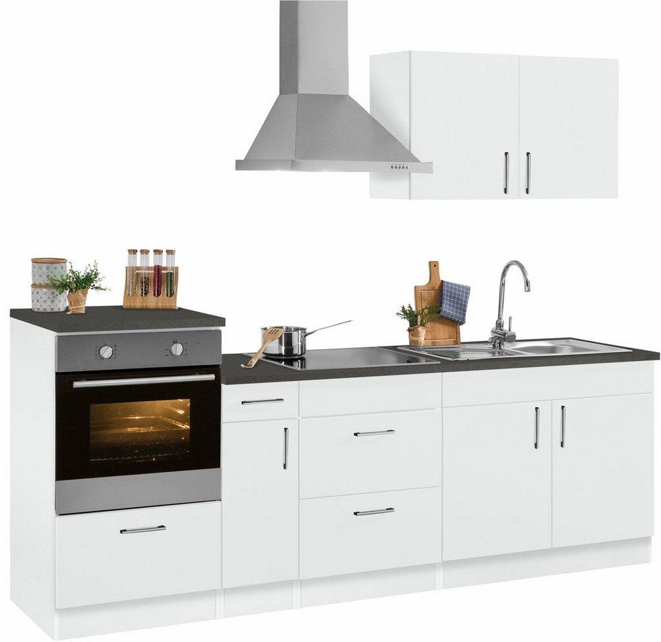Held Möbel Küchenzeile ohne E-Geräte »Tampa«, Breite 250 cm in weiß