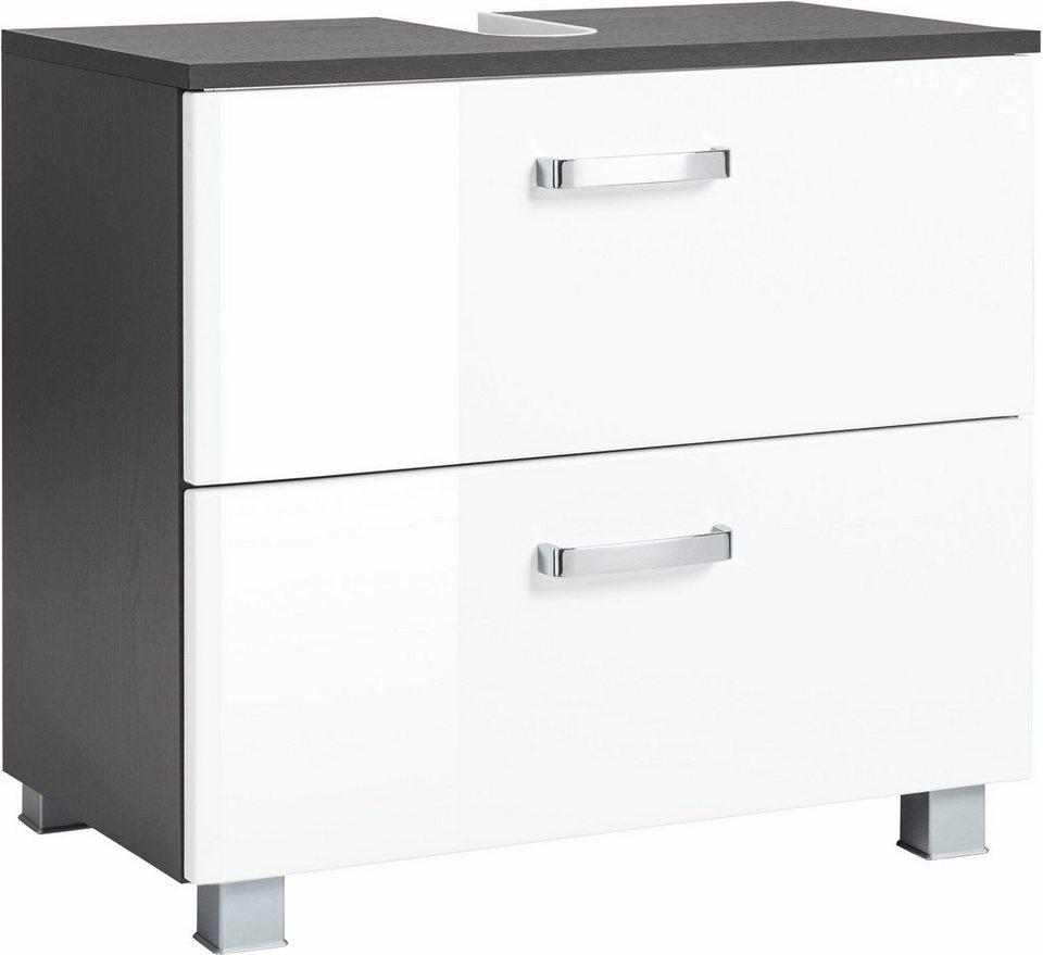 Held Möbel Waschbeckenunterschrank »Ravenna«, Breite 70 cm in grafit/weiß