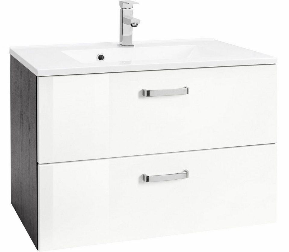 Held Möbel Waschtisch »Ravenna«, Breite 60 cm in grafit/weiß