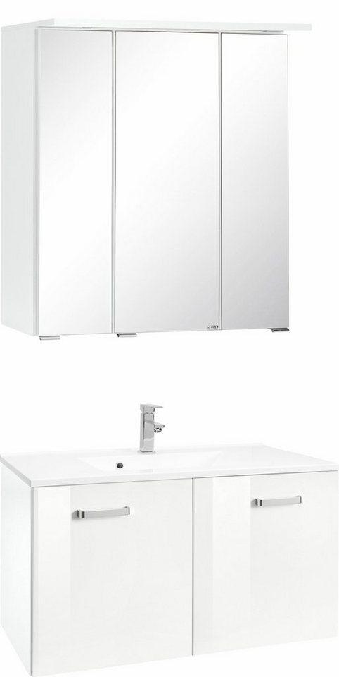Held Möbel Badmöbel-Set »Ravenna«, Breite 60 cm (2-tlg.) in weiß/weiß