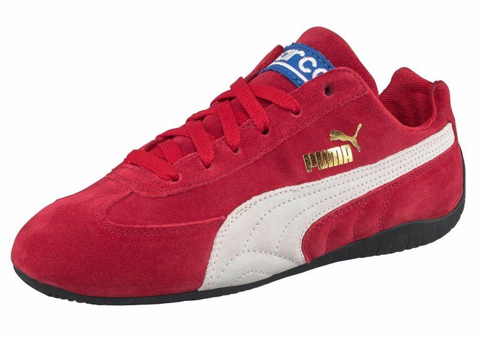 PUMA Sneaker »Speed Cat Core« in rot-weiß