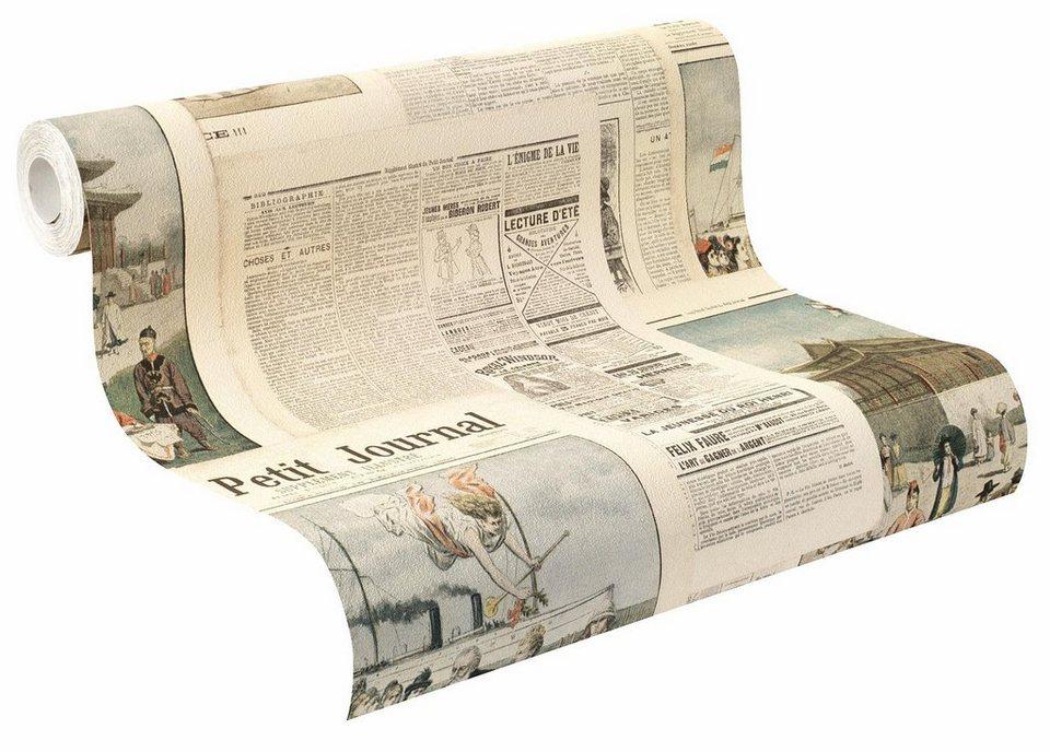Vliestapete, Rasch, »Crispy Paper 13« in bunt