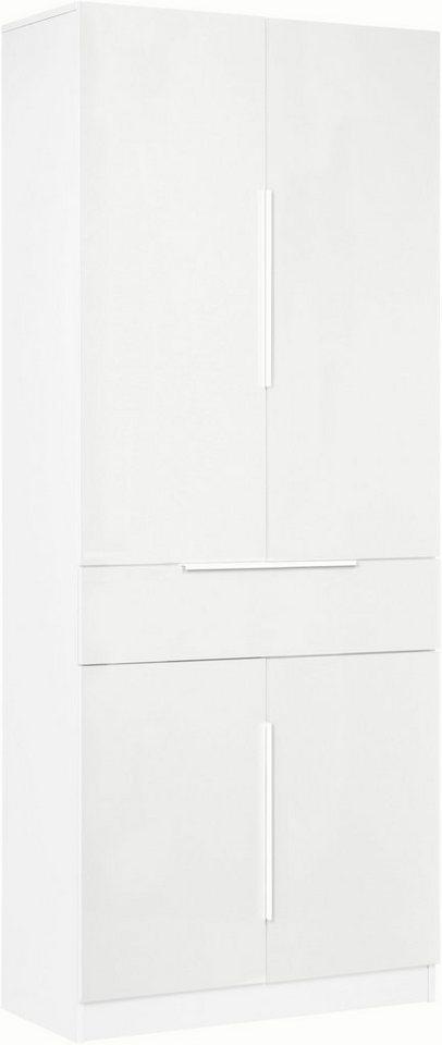 Garderobenschrank »Evo« in weiß/weiß matt