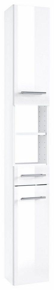Hochschrank, Held Möbel, »Venedig« in weiß-weiß