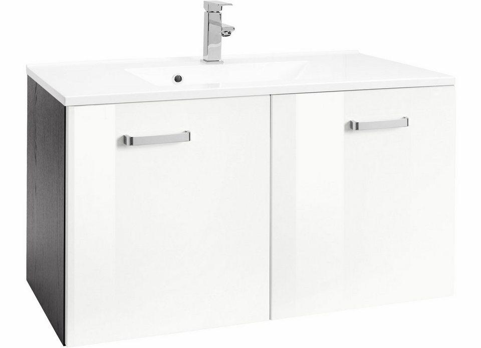 Held Möbel Waschtisch »Ravenna«, Breite 70 cm in grafit/weiß