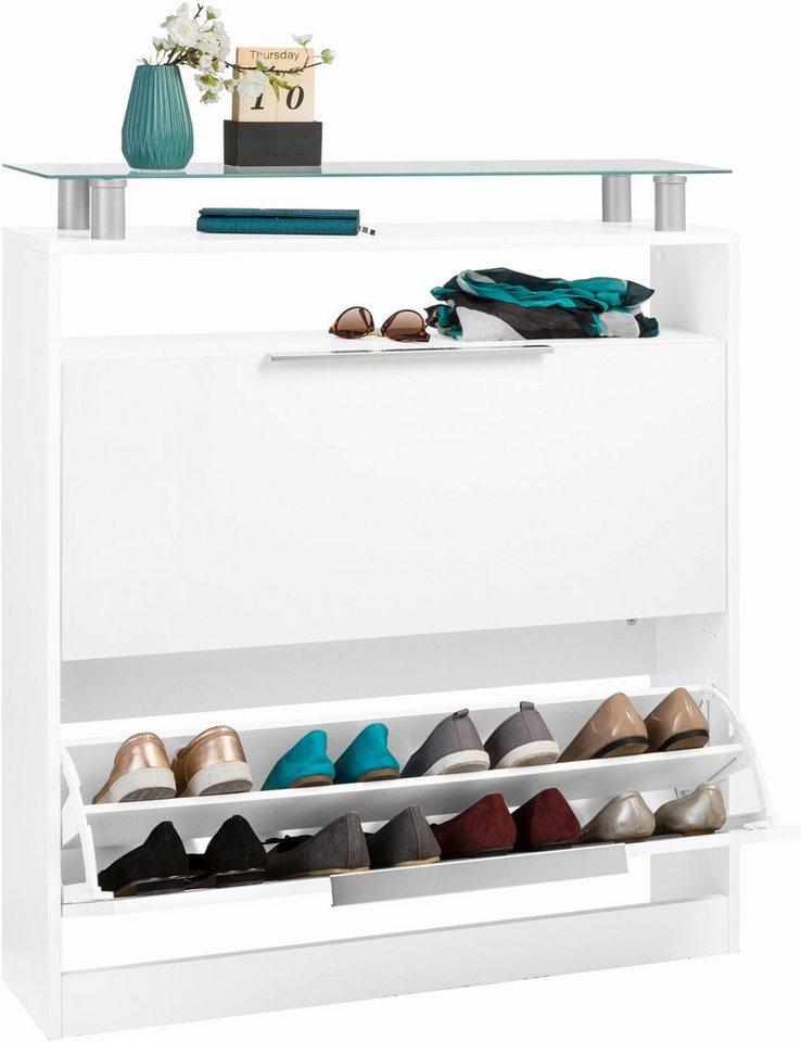 Schuhschrank »Evo« in weiß/weiß matt