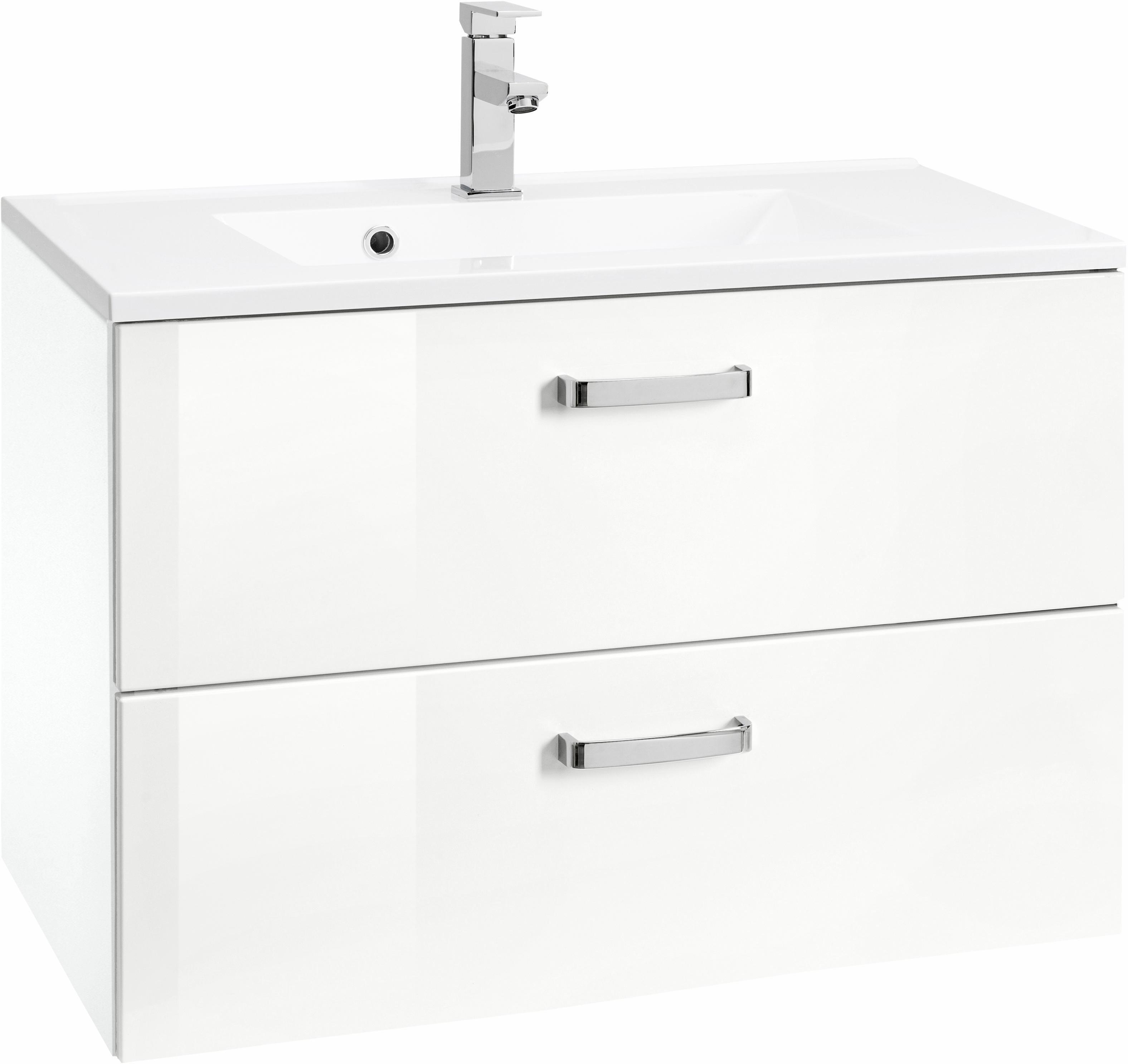 HELD MÖBEL Waschtisch »Ravenna«, Breite 60 cm | Bad > Badmöbel > Badmöbel-Sets | Weiß - Grau | Melamin | HELD MÖBEL
