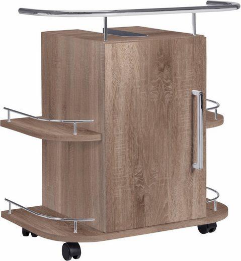 OPTIFIT Waschbeckenunterschrank »Napoli« mit Soft-Close-Funktion und Rollen, Breite 60 cm