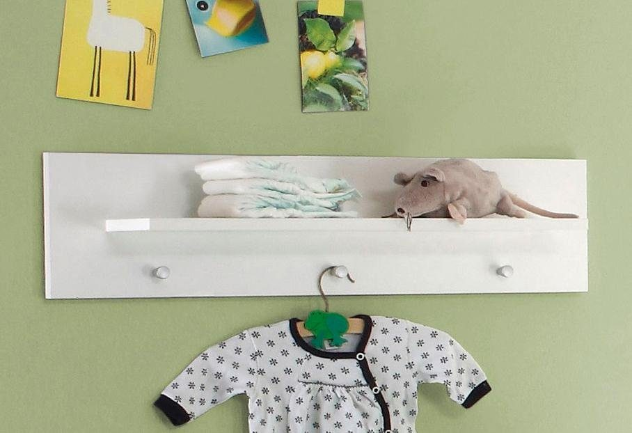 Wandregal / Wandboard passend zur Babymöbelserie »Trend« in weiß