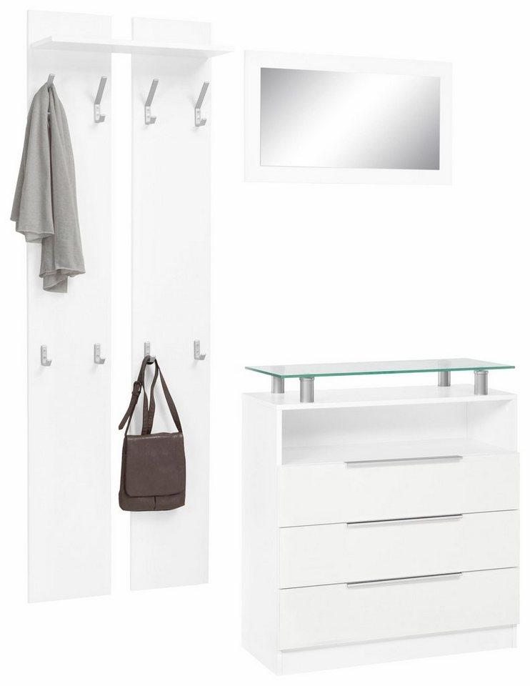 Garderoben-Set »Evo« (3-tlg.) in weiß/weiß matt