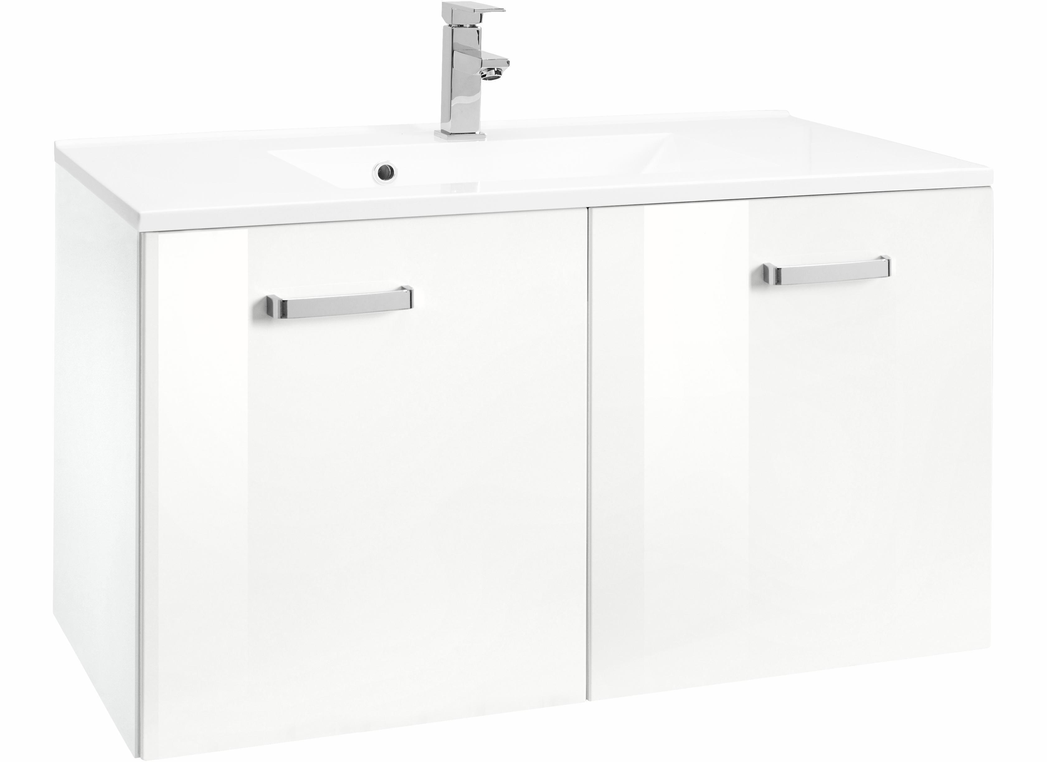 HELD MÖBEL Waschtisch »Ravenna«, Breite 70 cm | Bad > Badmöbel > Badmöbel-Sets | Weiß - Grau | Melamin | HELD MÖBEL