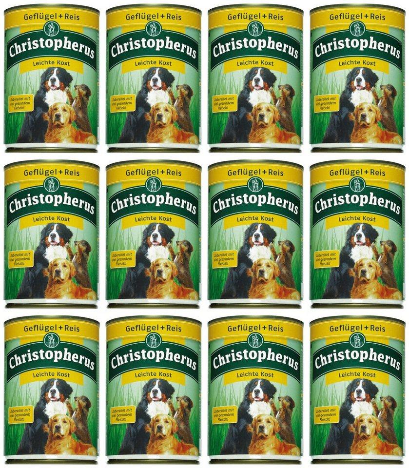 Hundenassfutter »Leichte Kost«, 12 Dosen á 400 g oder 12 Dosen á 800 g in braun
