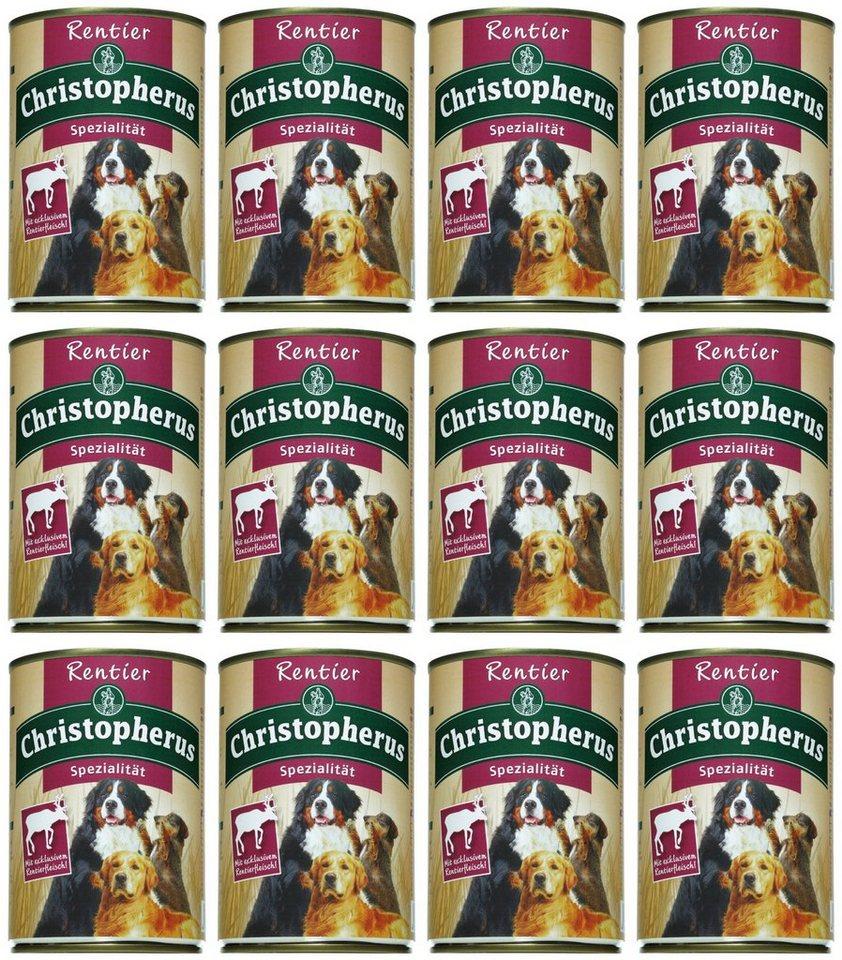 Hundenassfutter »Spezialität Rentier«, 12 Dosen á 400 g oder 12 Dosen á 800 g in braun