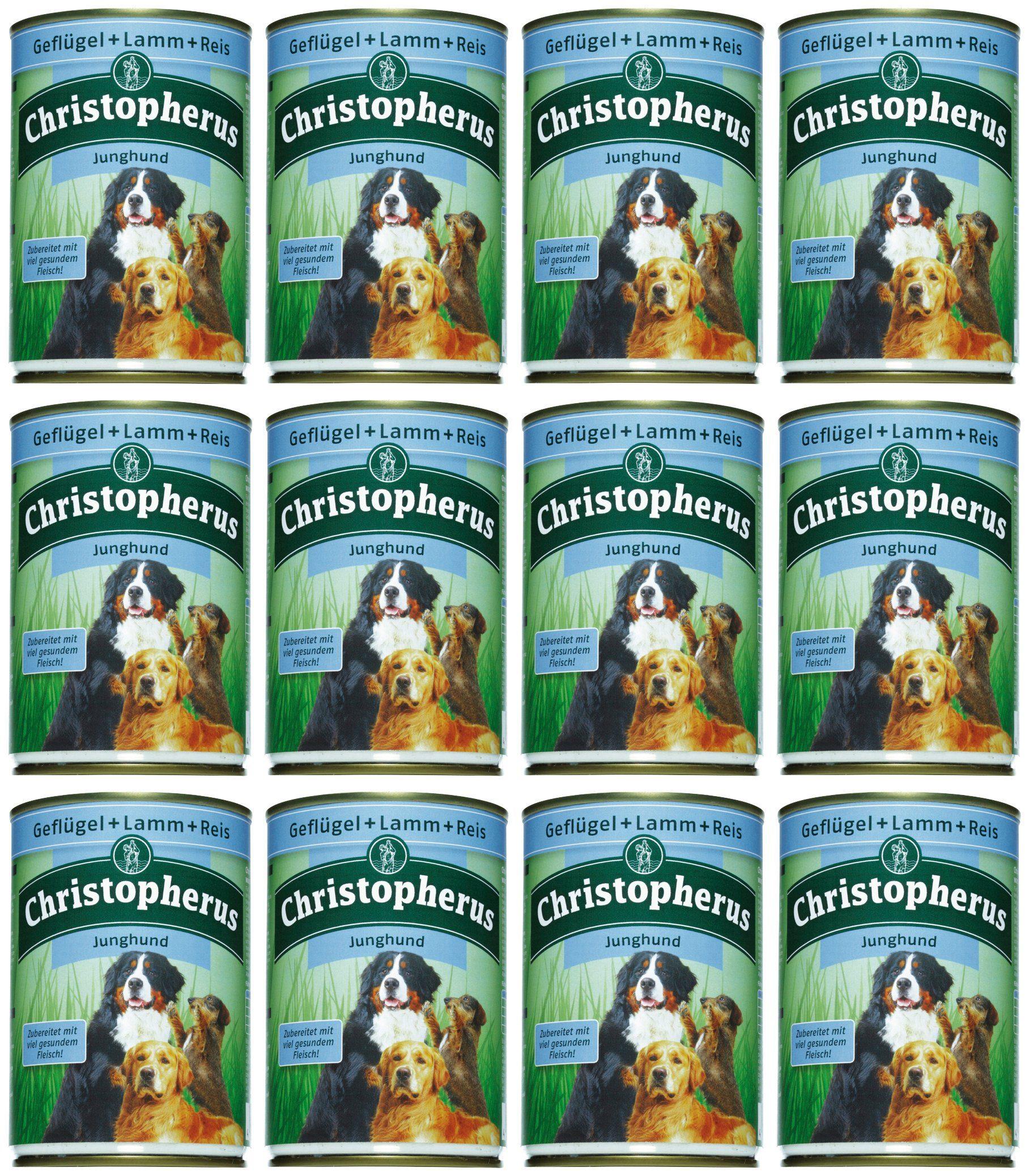 Hundenassfutter »Junghund«, 12 Dosen á 400 g