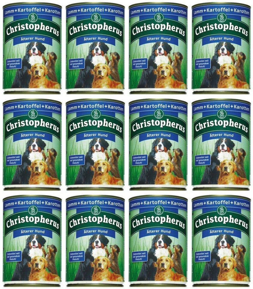 Hundenassfutter »Älterer Hund«, 12 Dosen á 400 g oder 12 Dosen á 800 g in braun