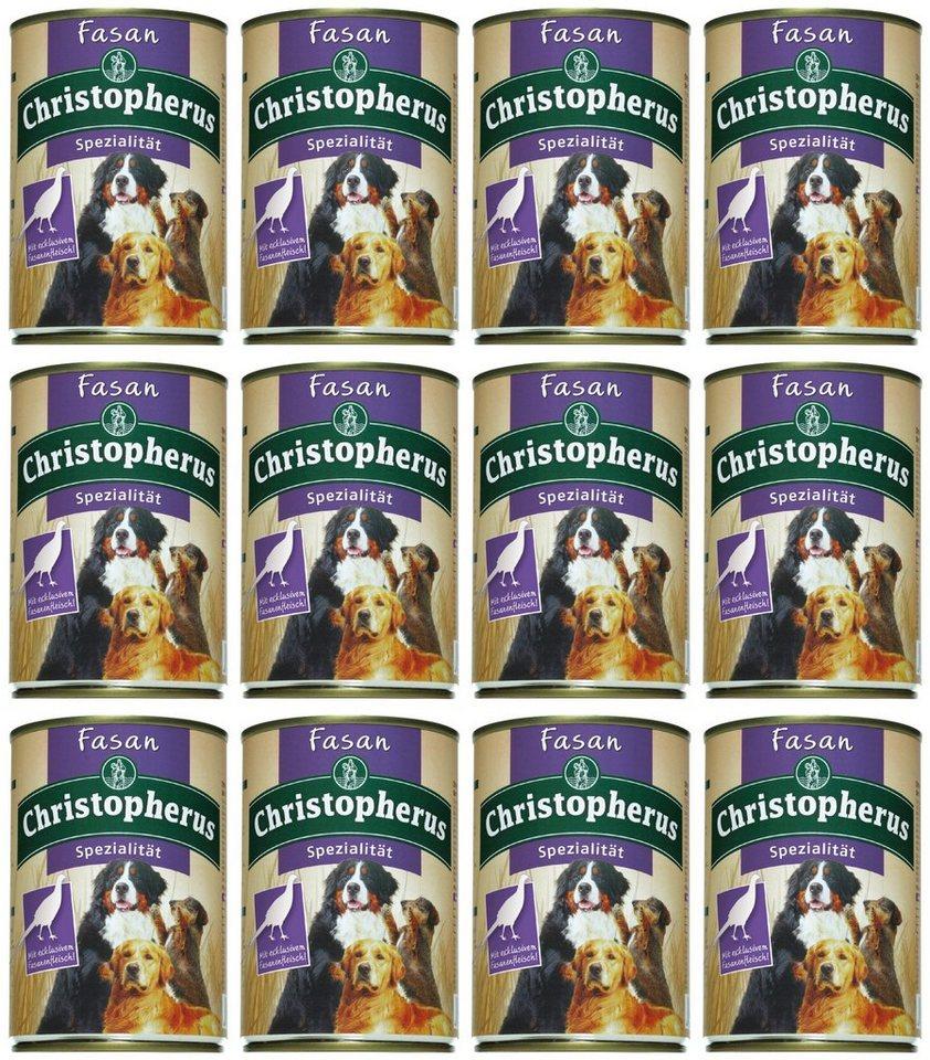Hundenassfutter »Spezialität Fasan«, 12 Dosen á 400 g in braun