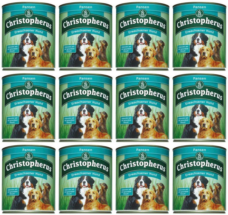 Hundenassfutter »Erwachsener Hund Pansen«, 12 Dosen á 800 g in braun