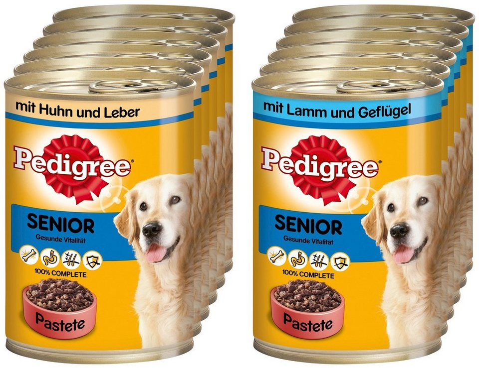 Set: Hundenassfutter »Senior«, 12 Dosen á 400 g in braun