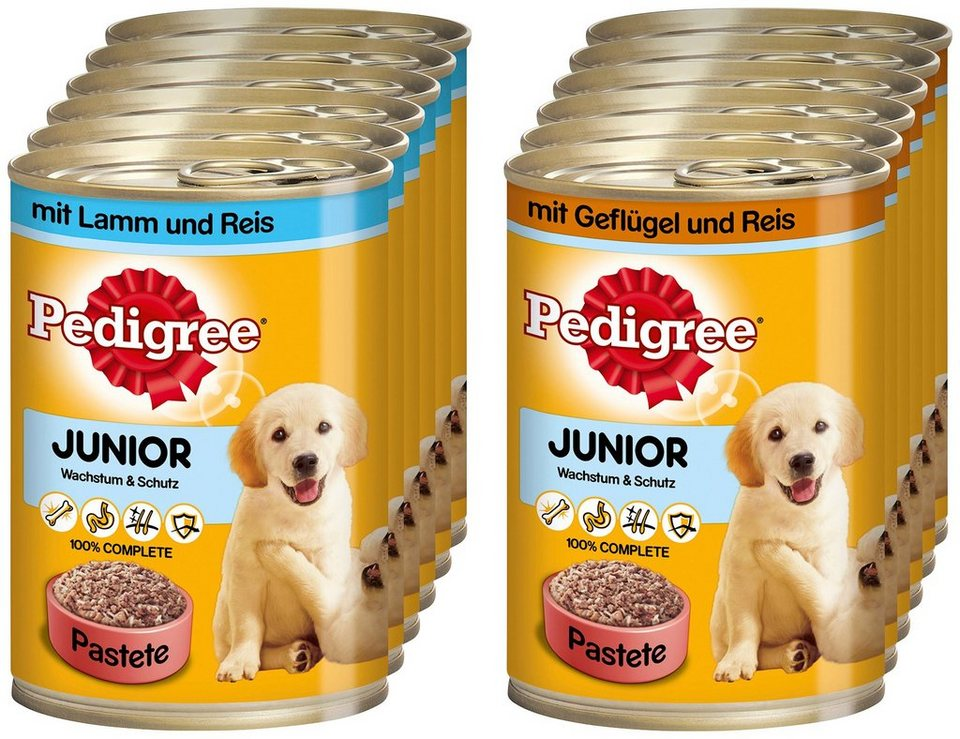 Set: Hundenassfutter »Junior«, 12 Dosen á 400 g in braun
