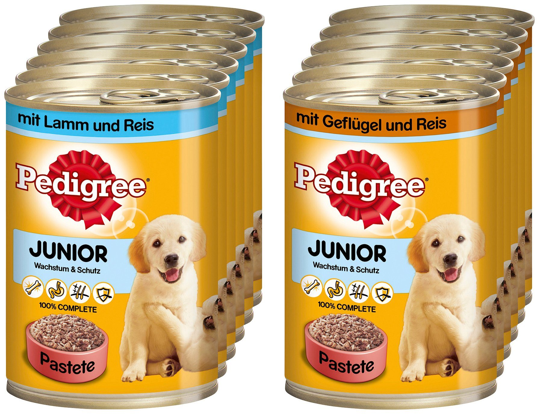 Set: Hundenassfutter »Junior«, 12 Dosen á 400 g