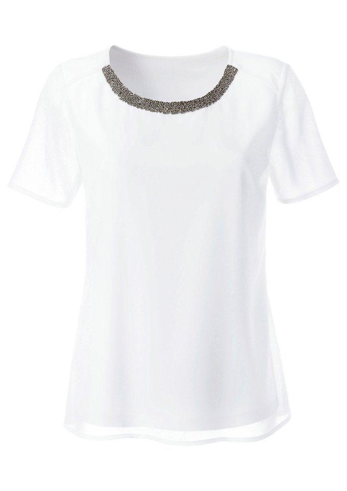 Ambria Bluse in transparenter Georgette-Qualität in weiß