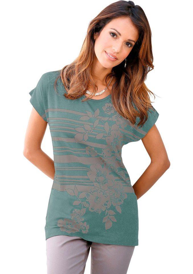 Classic Inspirationen Shirt im modischen Mix in wintertürkis-bedruckt