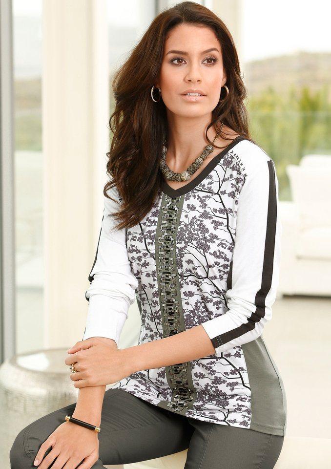 Alessa W. Shirt in angesagter Patch-Optik in oliv-gemustert