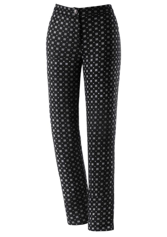 Ambria Hose mit Minimal-Muster in schwarz-weiß