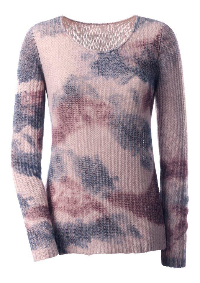 Création L Pullover mit Druck in rosé-bedruckt
