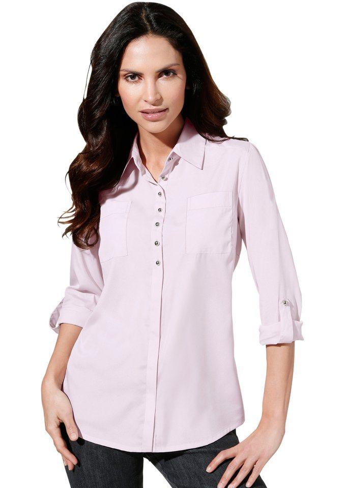 Classic Inspirationen Bluse mit Hemdkragen in rosé