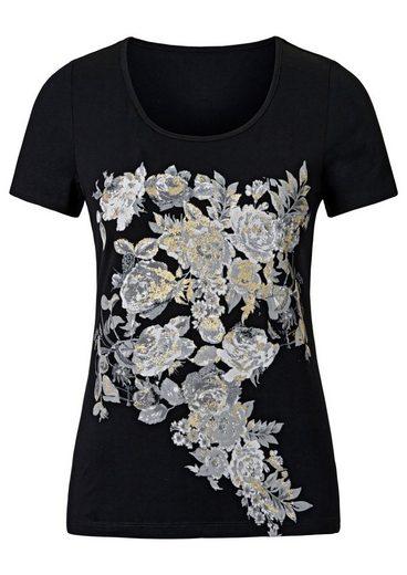 Création L Shirt mit Rosendruck
