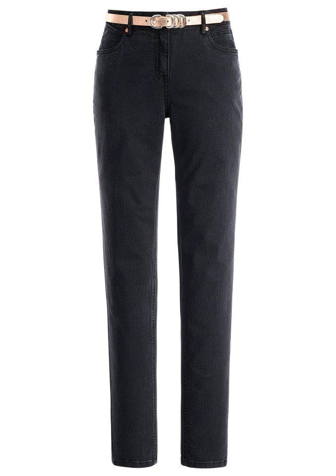Création L Jeans in der beliebten 5-Pocket-Form in anthrazit