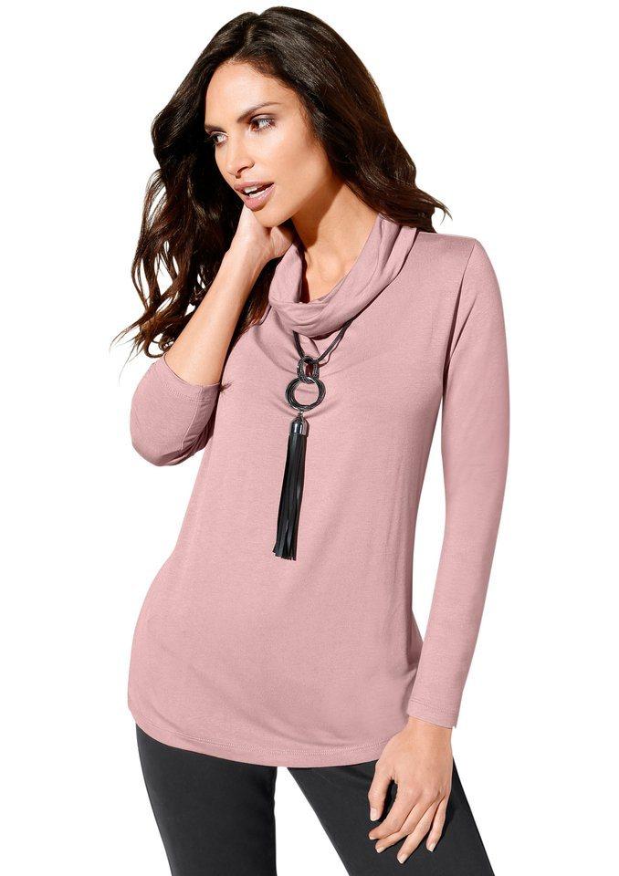 Classic Inspirationen Shirt in weicher, fließender Qualität in rosé
