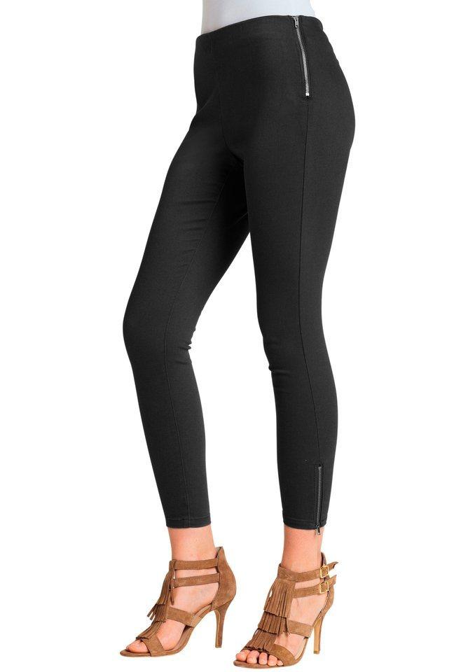 Ambria Hose in schmaler Form in schwarz
