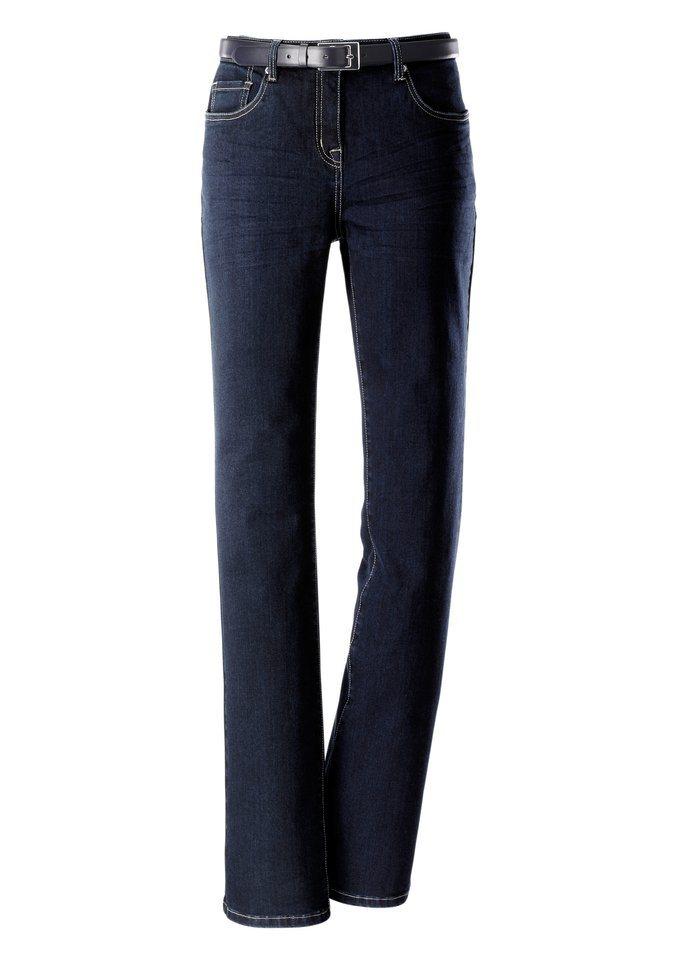 Création L Jeans mit leichtem Bootcut in dark blue