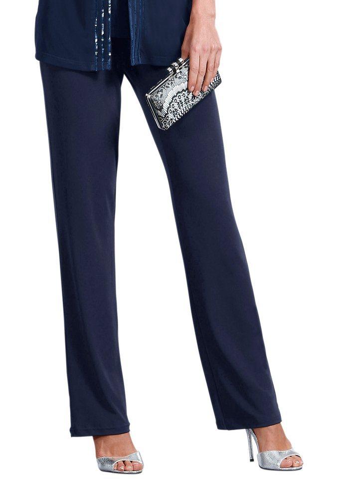 Fair Lady Jersey-Hose mit geradem Bein in blau
