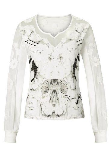 Création L Shirt mit bedrucktem, blickdichtem Body