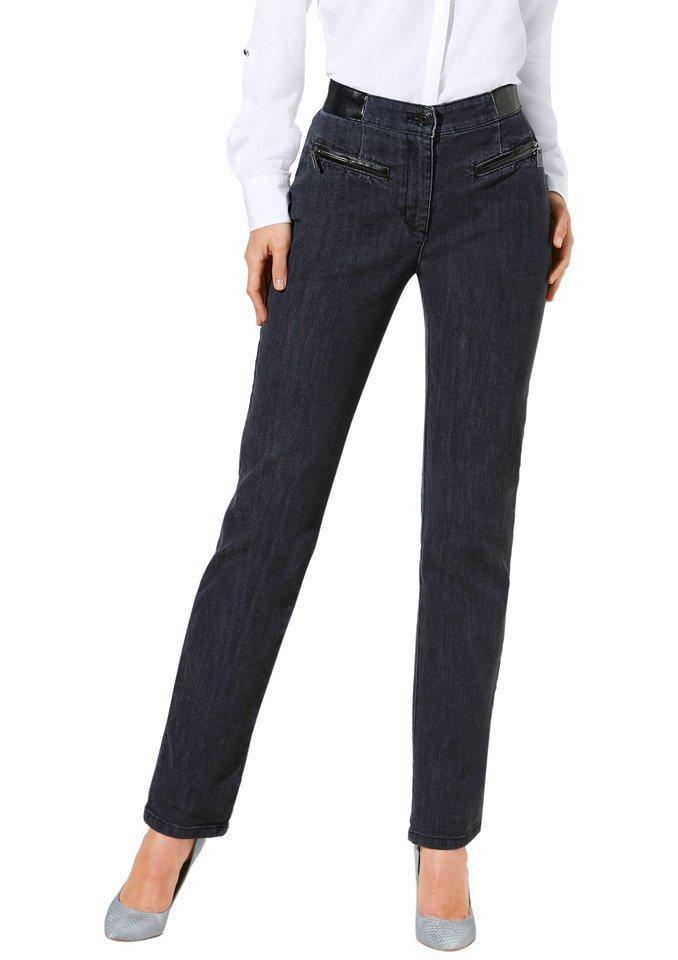 Classic Inspirationen Jeans in schlanker Optik in anthrazit-denim
