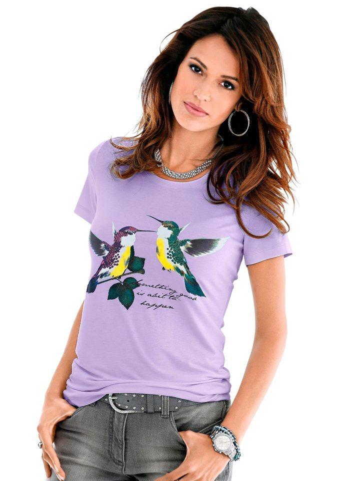 Classic Inspirationen Shirt mit Druck in lavendel
