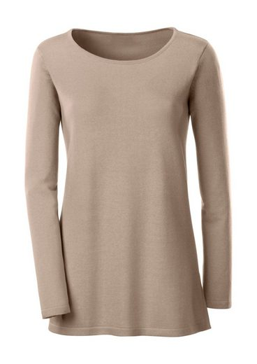Ambria Long Sweater With Comfortable Side Slits