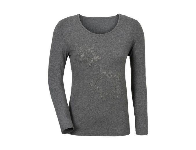 Classic Inspirationen Shirt mit funkelnden Glitzersteinchen im Vorderteil Billig 2018 Unisex xhsji1v